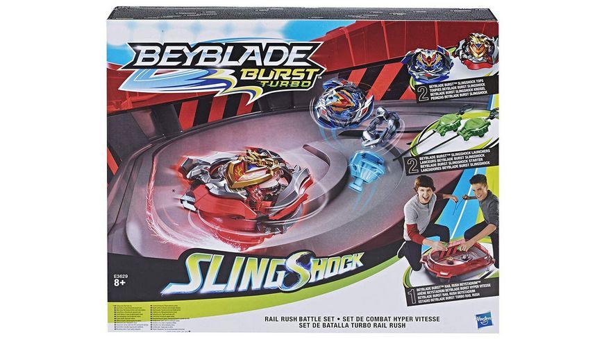 Hasbro Beyblade Burst SlingShock Rail Rush Battle Set
