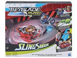 Hasbro Beyblade Burst SlingShock Rail Rush Battle Set