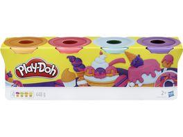 Hasbro Play Doh 4er Pack blau orange tuerkis gelb