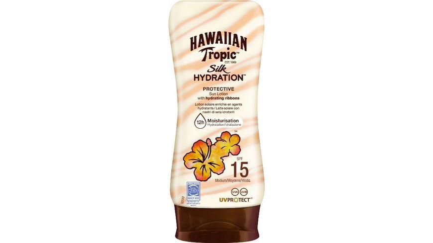 HAWAIIAN Tropic Silk Hydration Protective Sun Lotion Sonnencreme LSF 15