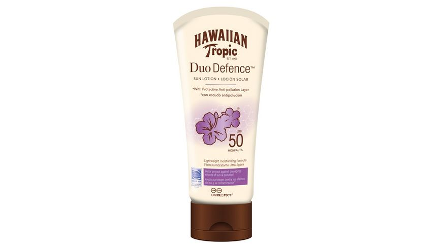 HAWAIIAN Tropic Duo Defence Sun Lotion Sonnencreme LSF 50