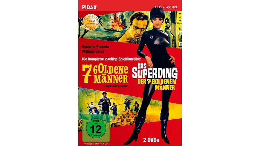 7 goldene Maenner Das Superding der 7 goldenen Maenner Die komplette mit dem Praedikat WERTVOLL ausgezeichnete 2 teilige Spielfilmreihe Pidax Film Klassiker 2 DVDs