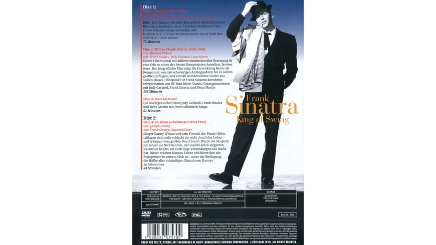 Frank Sinatra King of Swing 2 DVDs