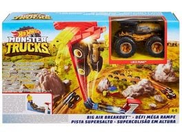 Mattel Hot Wheels Monster Trucks Mega Sprung Blaster mit 1 64 Die Cast Truck