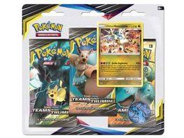 Pokemon Sammelkartenspiel Sonne Mond Teams sind Trumpf 3 Booster Blister Pack