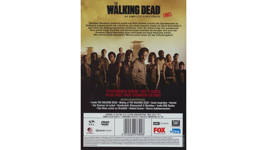 The Walking Dead Season 4 Uncut 5 DVDs