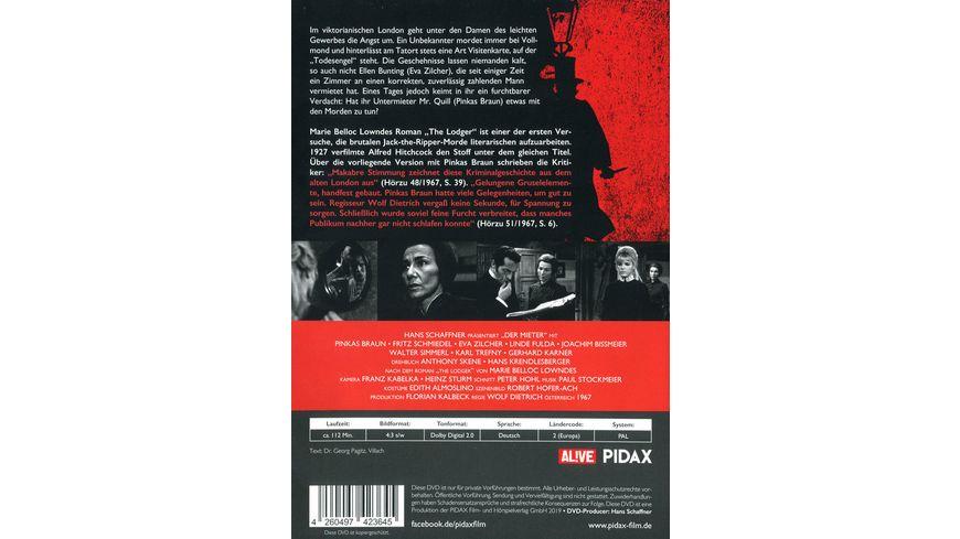 Der Mieter Gruseliges Alfred Hitchcock Remake mit Pinkas Braun als Jack the Ripper Pidax Film Klassiker
