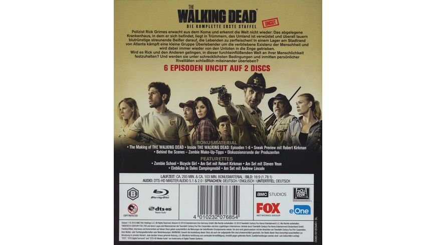 The Walking Dead Season 1 Uncut 2 BRs