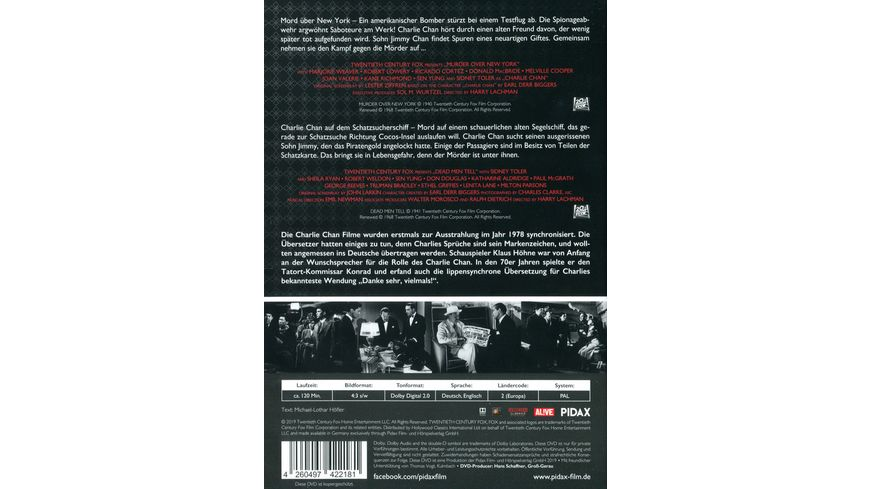 Charlie Chan Collection Vol 4 Mord ueber New York Charlie Chan auf dem Schatzsucherschiff