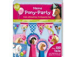 Coppenrath Verlag Aktivbuch Meine Pony Party Mottoparty Set Ponyhof