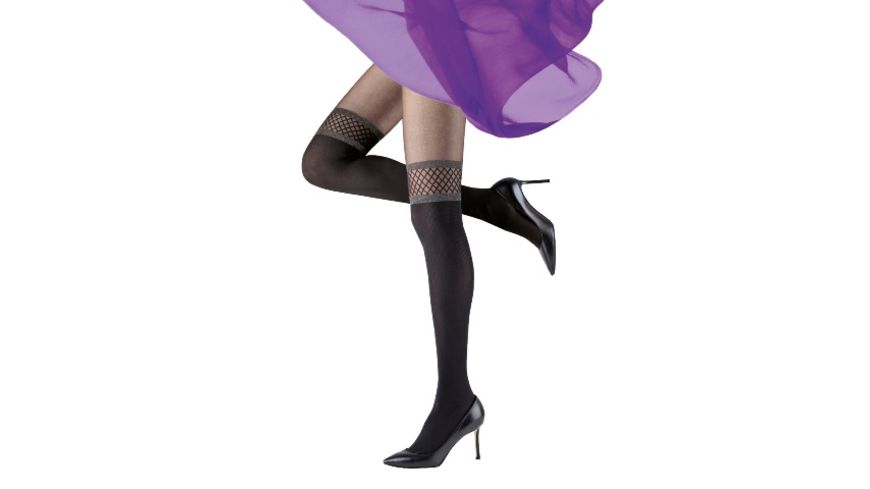 MOVE UP Damen Feinstrumpfhose Overknee Optik