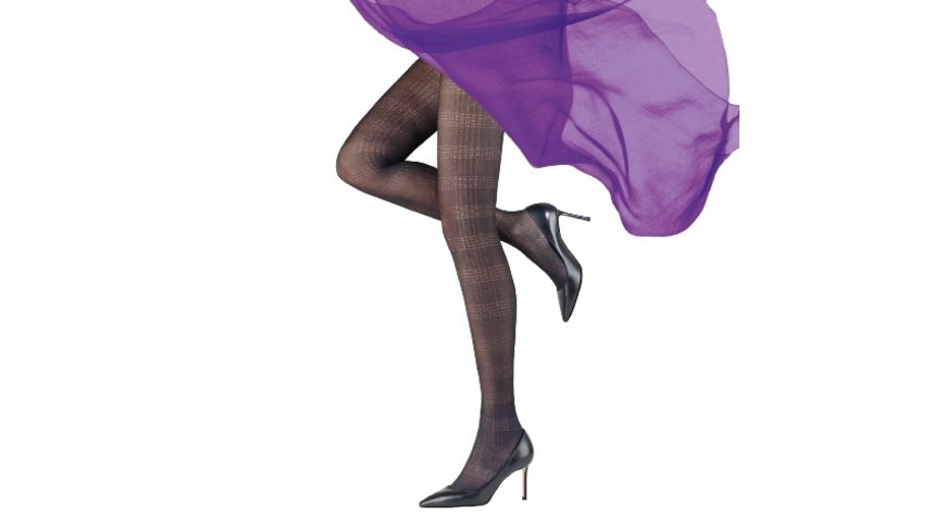 MOVE UP Damen Feinstrumpfhose Streifen