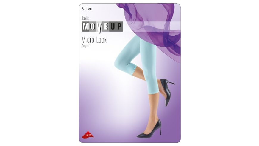 MOVE UP Damen Capri Microfaser