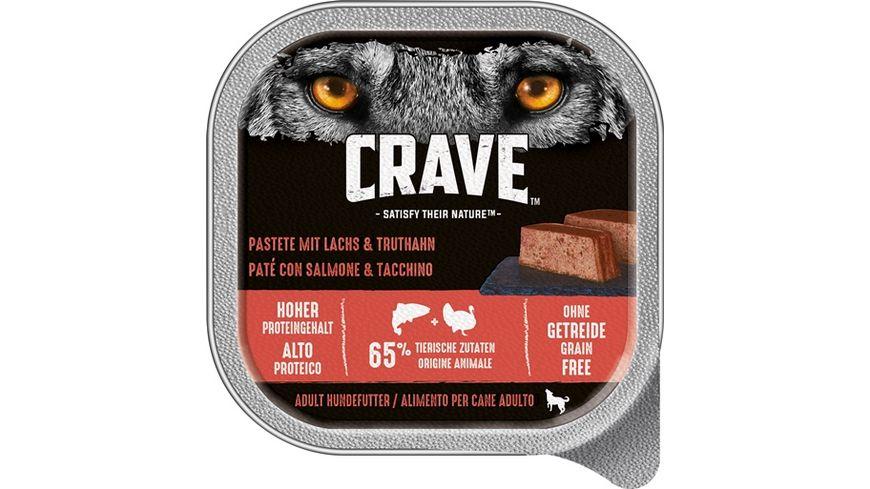 CRAVE Hundenassfutter Pastete mit Lachs Truthahn