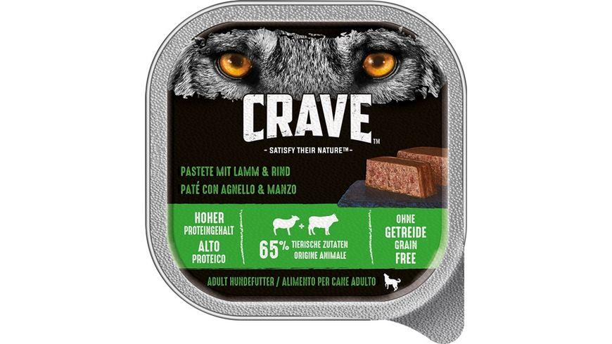 CRAVE Nassfutter Pastete mit Lamm Rind