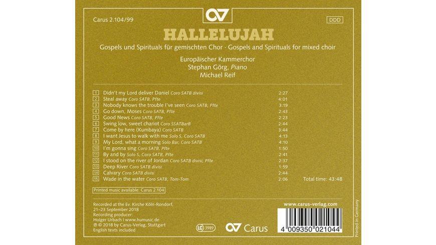 Hallelujah Gospels Spirituals f gemischten Cho