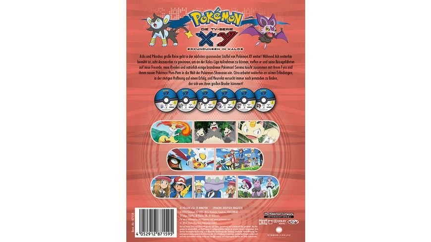 Pokemon Staffel 18 XY Erkundungen in Kalos 6 DVDs