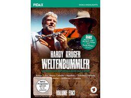 Hardy Krueger Weltenbummler Vol 1 10 Folgen der spannenden Reportage Reihe und Portraet zum 90 Geburtstag von Hardy Krueger Pidax Doku Highlights 3 DVDs