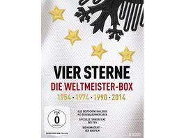 Vier Sterne Die Weltmeister Box 1954 1974 1990 2014 Alle deutschen Finalsiege mit Originalkommentaren von ARD und ZDF Die offiziellen Turnierfilme der FIFA Die Mannschaft 5 DVDs