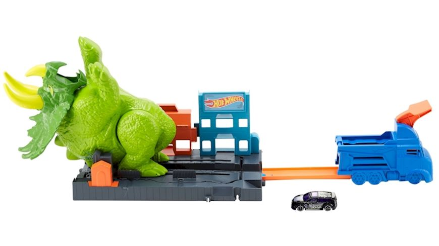 Mattel Hot Wheels City Triceratops Angriff Spielset