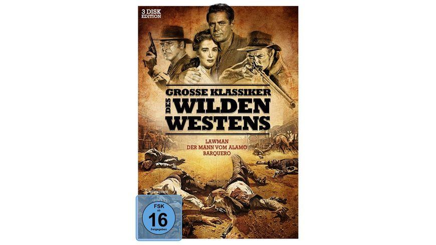 Große Klassiker des Wilden Westens - Lawman, Der Mann vom Alamo, Barquero (3 DVDs)