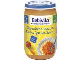 Bebivita Menues ab dem 12 Monat Sternchennudeln in Tomaten Kuerbis Sauce