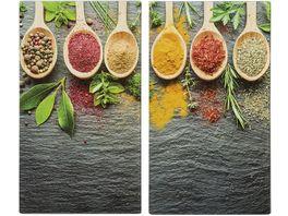 zeller Herdabdeckplatten Spices 2er Set