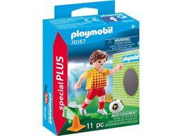 PLAYMOBIL 70157 Special Plus Fussballspieler mit Torwand