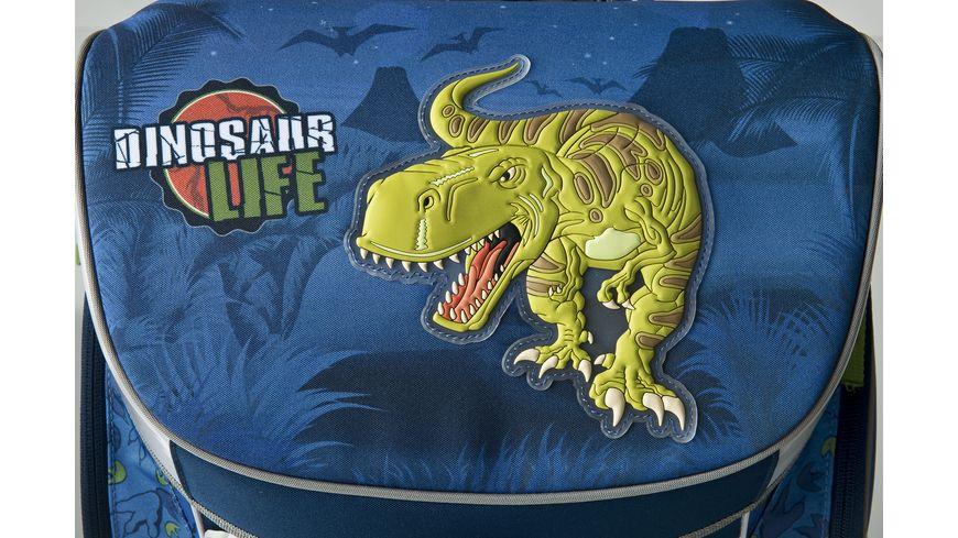 Scooli CAMPUS FIT Schulranzen Set 5teilig Dinosaurier