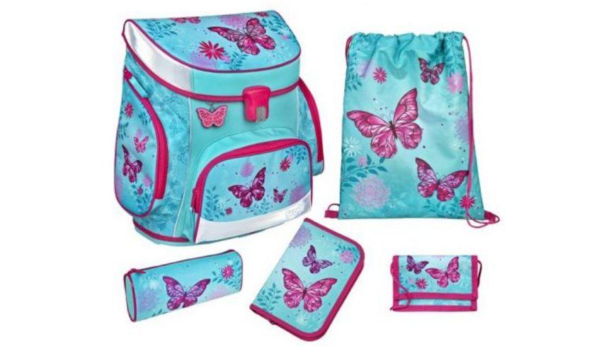 Scooli CAMPUS FIT Schulranzen Set 5teilig Butterfly