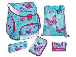 Scooli CAMPUS FIT PRO Schulranzen Set 6teilig Butterfly