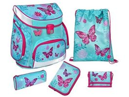 Scooli CAMPUS FIT Schulranzen Set 5teilig Butterfly