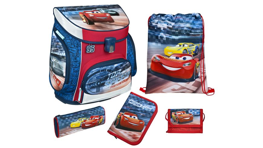 Scooli CAMPUS FIT Schulranzen Set 5teilig Cars