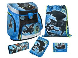 Scooli CAMPUS FIT PRO Schulranzen Set 6teilig Dragons