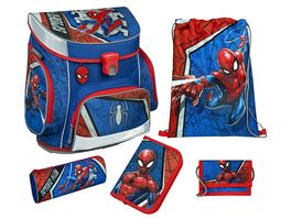 Scooli CAMPUS FIT PRO Schulranzen Set 6teilig Spider Man