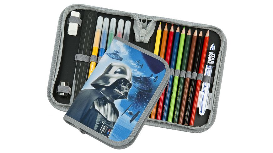 Scooli CAMPUS FIT PRO Schulranzen Set 6teilig Star Wars