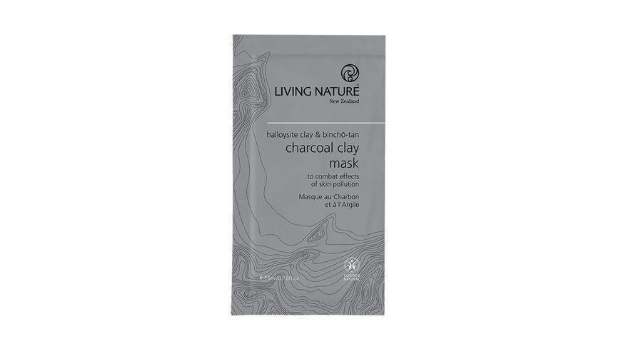 LIVING NATURE Charcoal Clay Mask Kohle Tonerde Maske