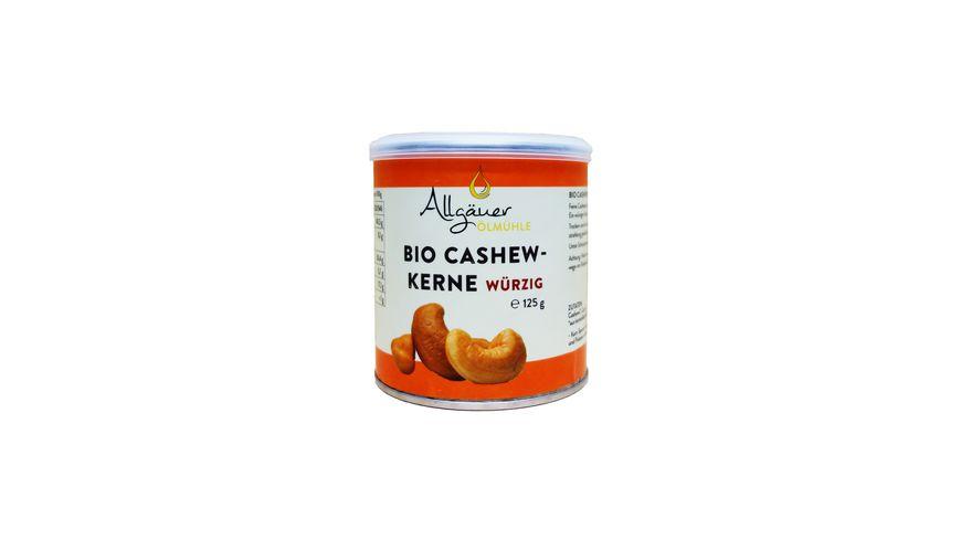 Allgaeuer Oelmuehle Bio Cashew Kerne wuerzig