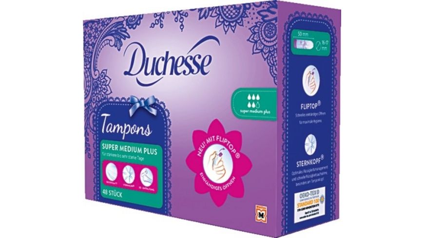 Duchesse Tampons FLIPTOP Super Medium Plus 48 Stueck