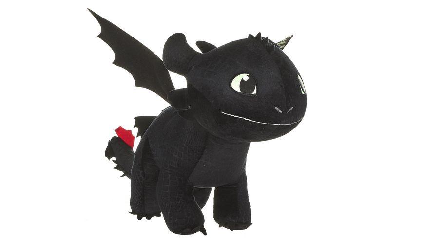 Joy Toy Dragons Drachenzaehmen leichtgemacht 3 Ohnezahn Pluesch 60 cm mit Glow in the Dark Effekt
