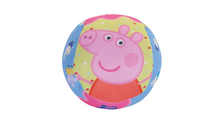 John 4 100 mm Softball mit Gloeckchen Peppa Pig Motiv
