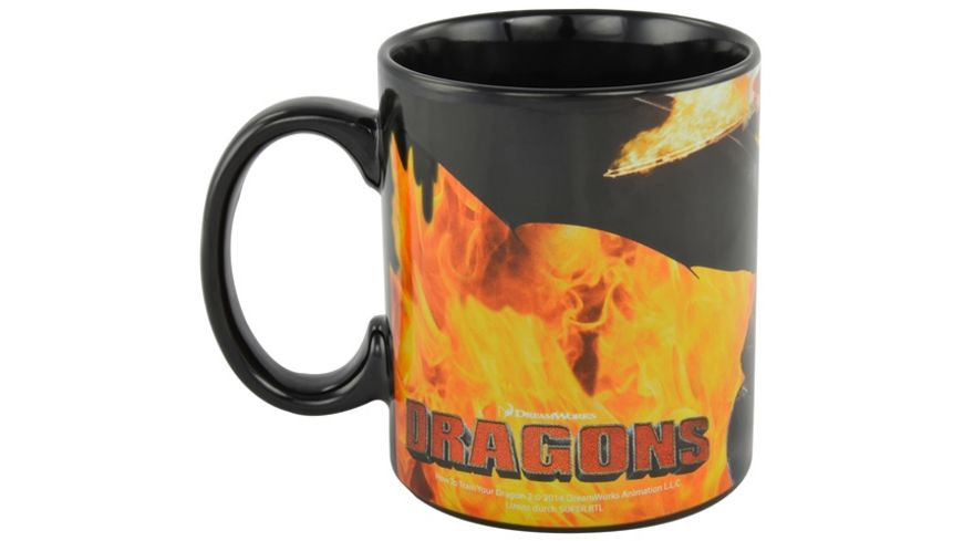 Dreamworks Motiv Tasse Dragons Ohnezahn Hicks Flammen