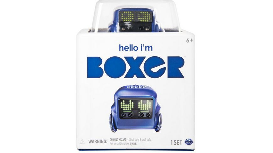Spin Master Boxer Interaktiver A I Spielzeugroboter mit charakterstarker Persoenlichkeit 1 Stueck sortiert