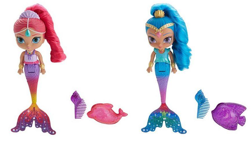 Fisher Price Shimmer und Shine Regenbogen Zahramay Meerjungfrau 1 Stueck sortiert