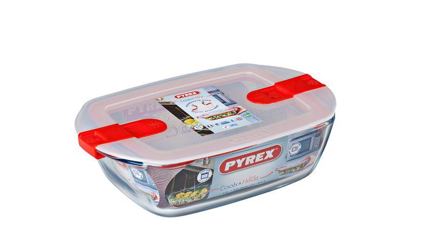 Pyrex Cook Heat Form rechteckig mit Deckel