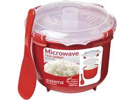 sistema Mikrowellen Reiskocher mit Dampfgareinsatz 2 6 l