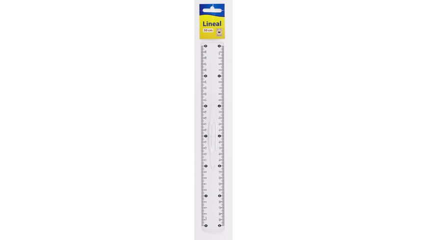 Lineal 30cm transparent