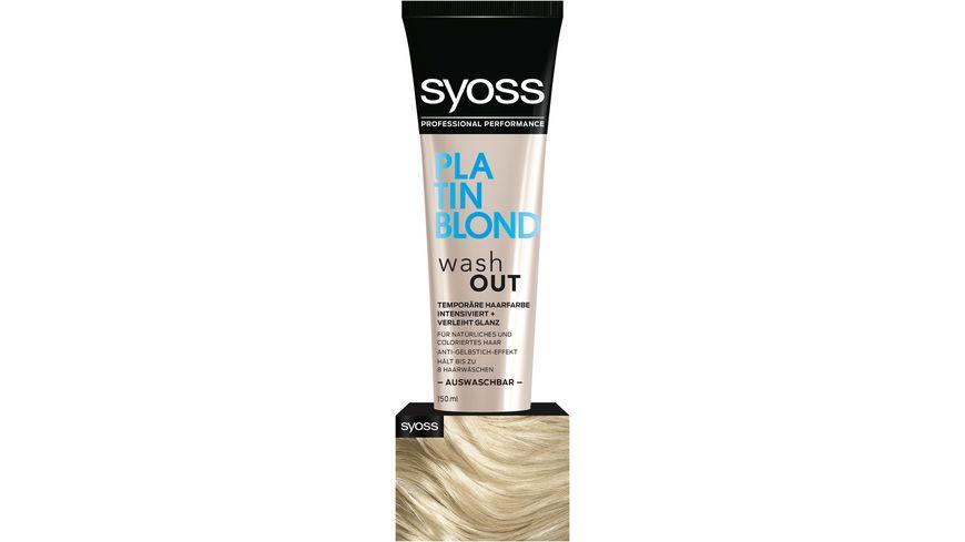 syoss Wash Out Platin Blond