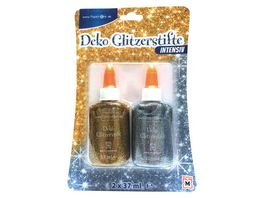 PAPERZONE Deko Glitzerstifte silber und gold