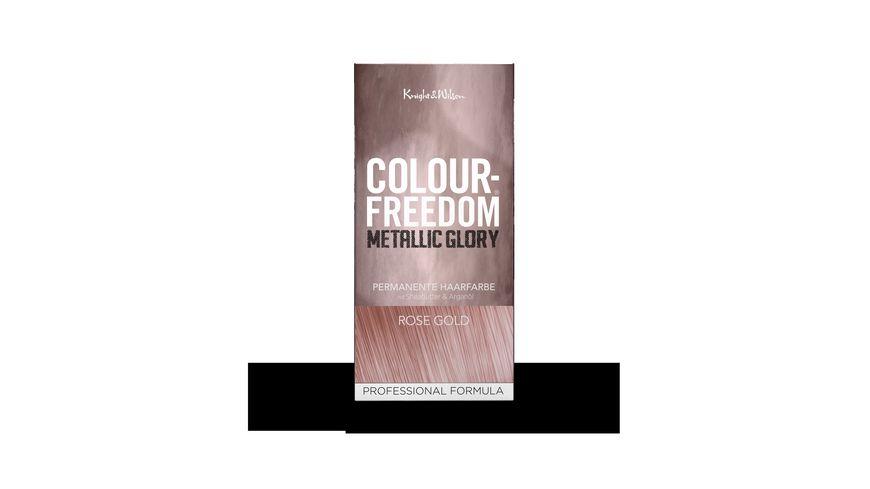 COLOUR FREEDOM METALLIC GLORY Rose Gold permanente Haarfarbe